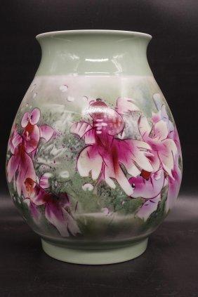 Chinese Painted Porcelain Gold Fish Vase