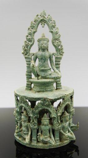 A Cambodian Bronze Statue