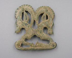 Mongolian Bronze Button Of Sheep
