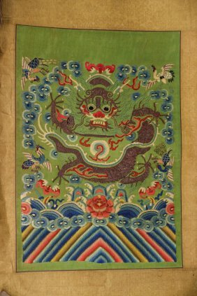 Chinese Dragon Silk Embroidery