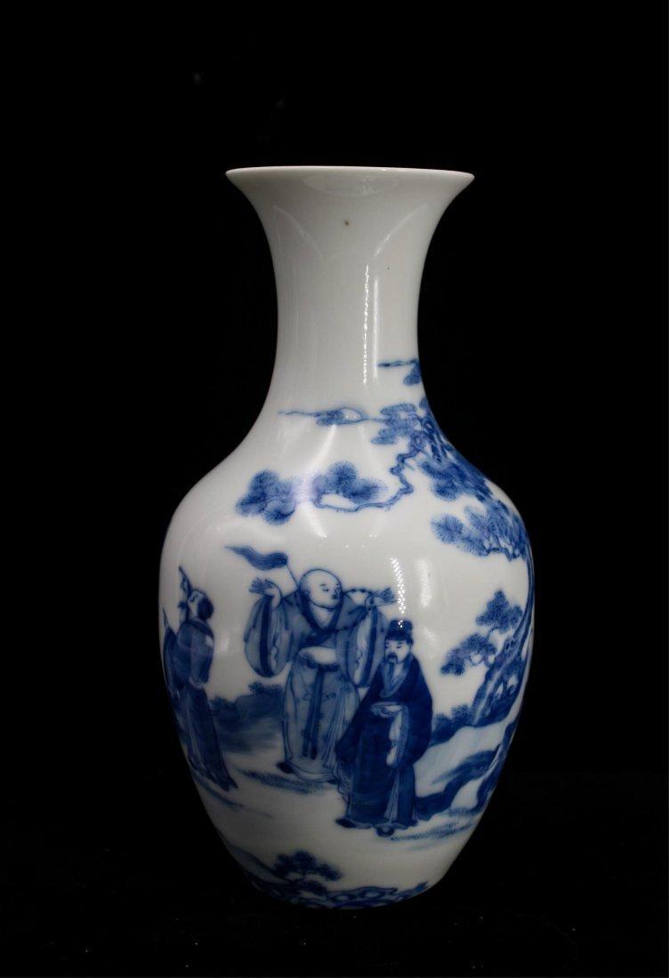 CHINESE REPUBLIC PERIOD BLUE WHITE PORCELAIN VASE