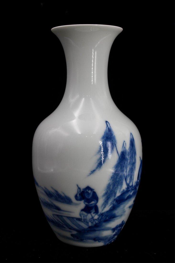CHINESE REPUBLIC PERIOD BLUE WHITE PORCELAIN VASE - 3
