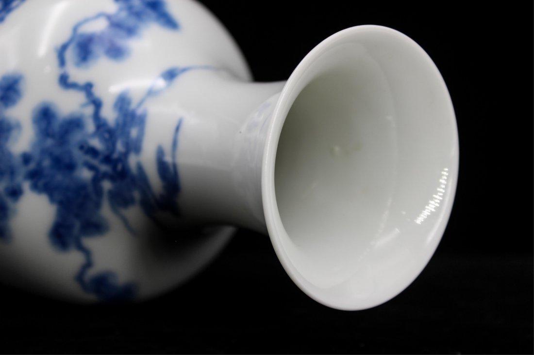 CHINESE REPUBLIC PERIOD BLUE WHITE PORCELAIN VASE - 7