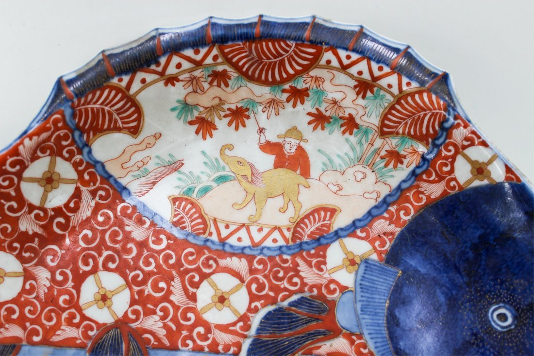 19TH CENTURY JAPANESE IMARI FISH PLATE - 4
