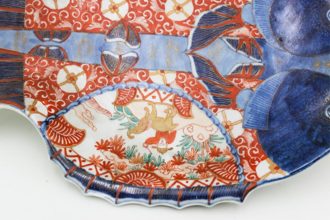 19TH CENTURY JAPANESE IMARI FISH PLATE - 5