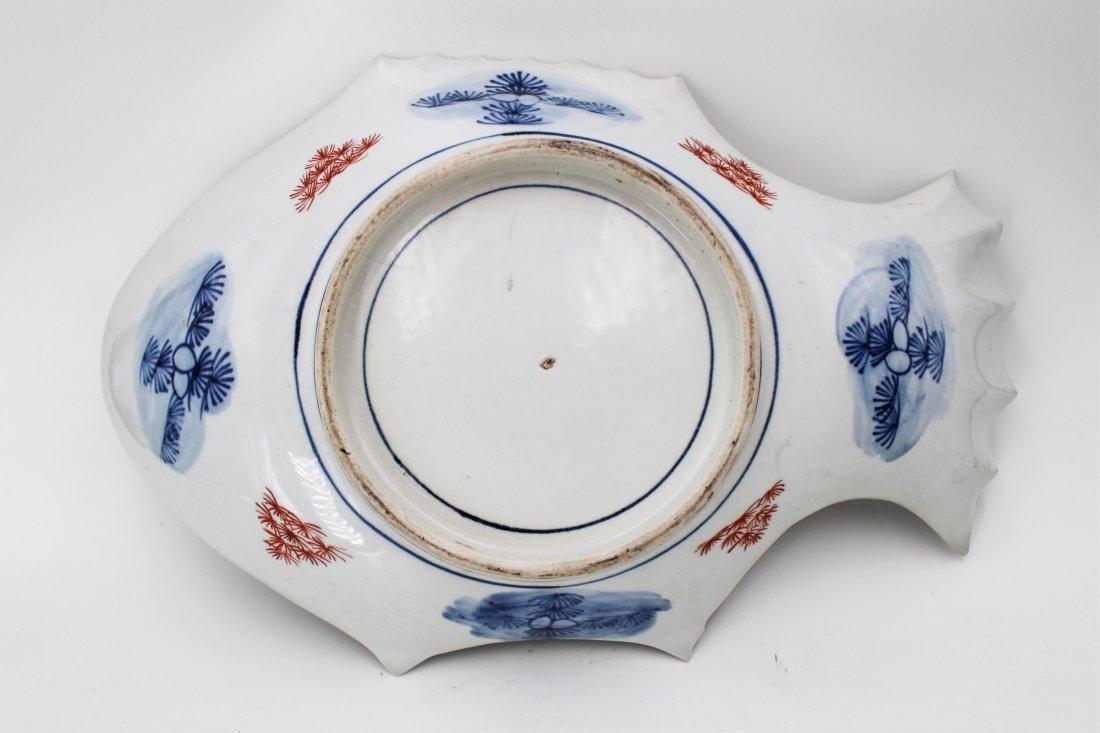 19TH CENTURY JAPANESE IMARI FISH PLATE - 5