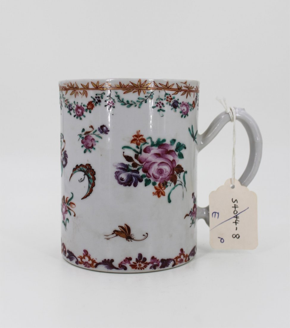 18TH CENTURY CHINESE FAMILLE ROSE CUP