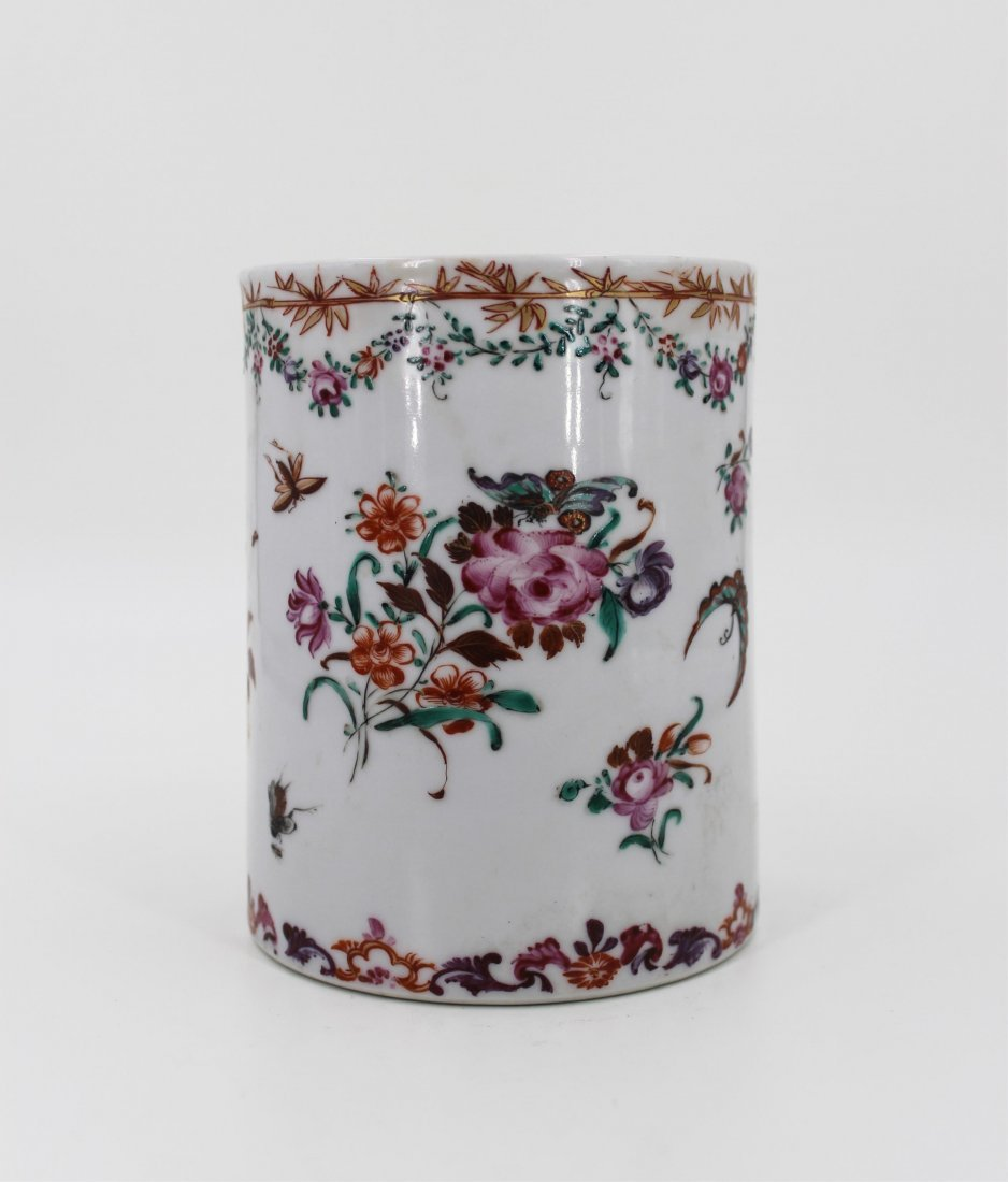 18TH CENTURY CHINESE FAMILLE ROSE CUP - 3