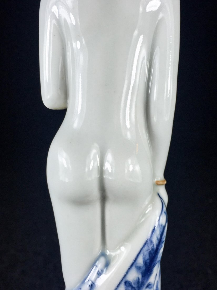 CHINESE REPUBLIC PERIOD PORCELAIN FIGURE OF LADY - 6