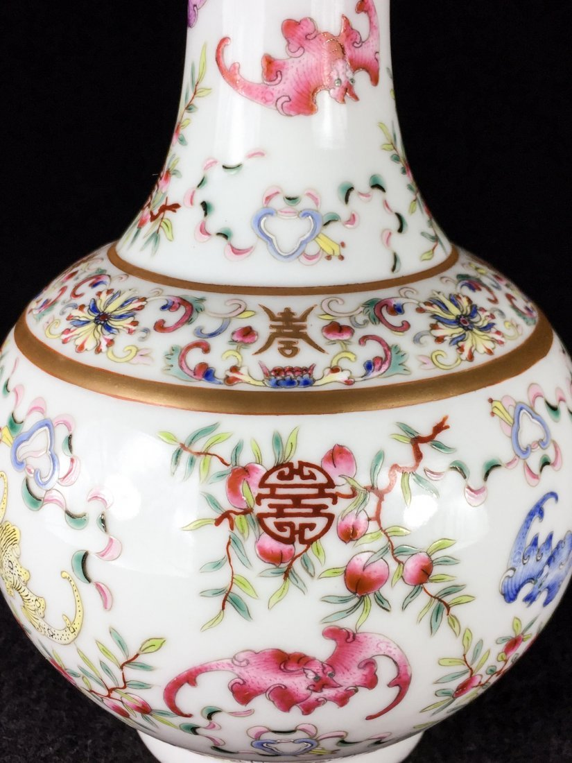 PAIR OF CHINESE QING DYNASTY FAMILLE ROSE VASE - 4