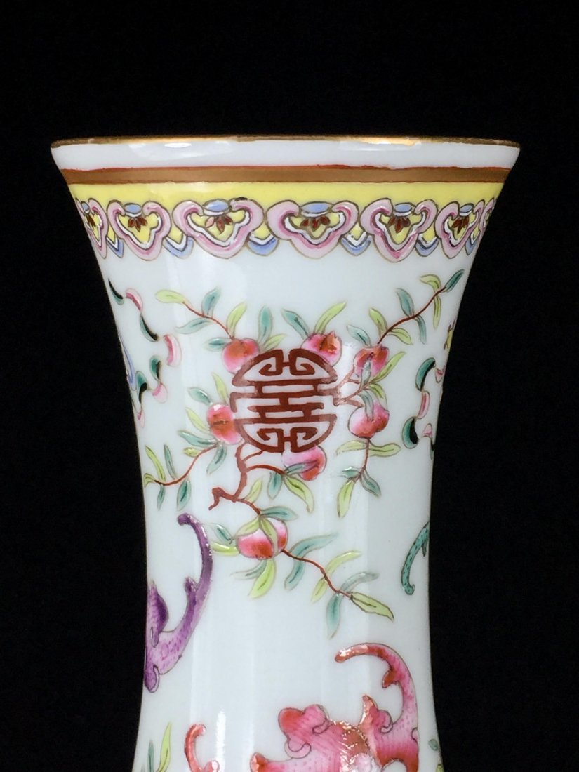 PAIR OF CHINESE QING DYNASTY FAMILLE ROSE VASE - 5