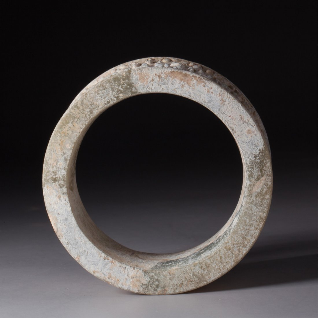 CHINESE ARCHAIC STYLE JADE RING - 6