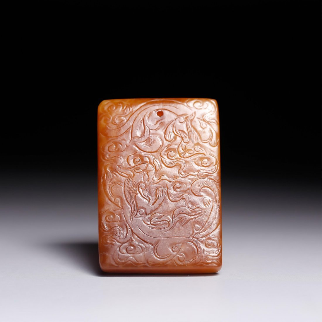 CHINESE JADE CARVED CHILONG PENDANT
