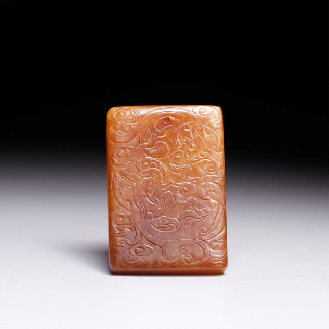 CHINESE JADE CARVED CHILONG PENDANT - 8