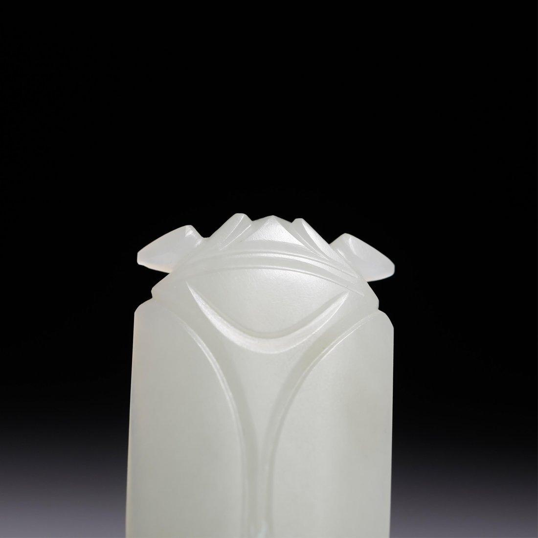 CHINESE WHITE JADE CICADA PENDANT - 7