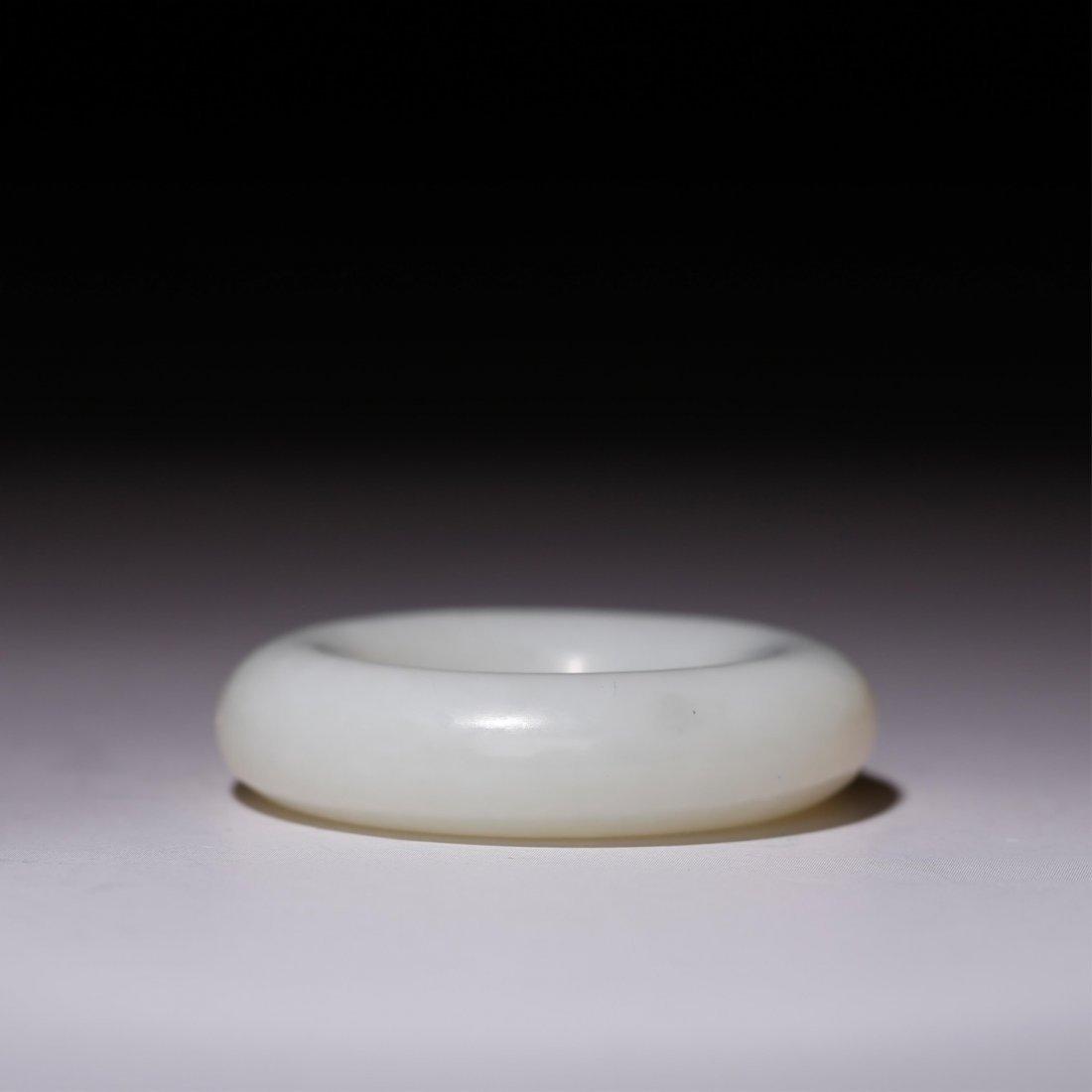CHINESE WHITE JADE RING - 5