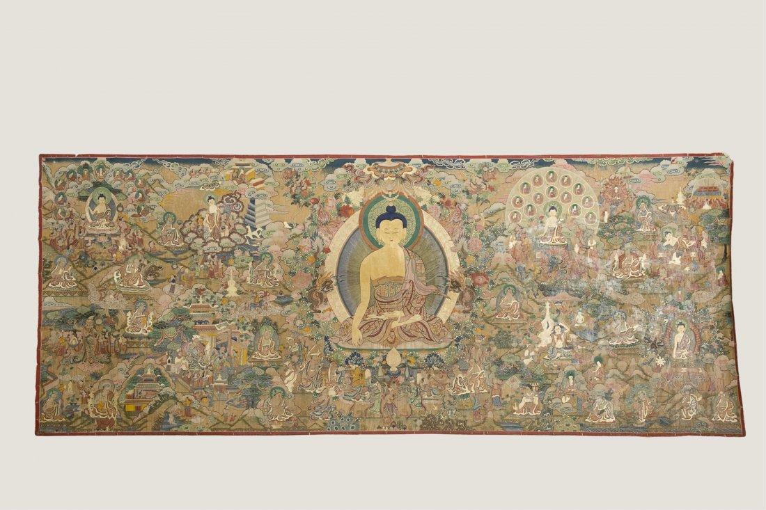 CHINESE BUDDHIST PAINTING OF SHAKYAMUNI
