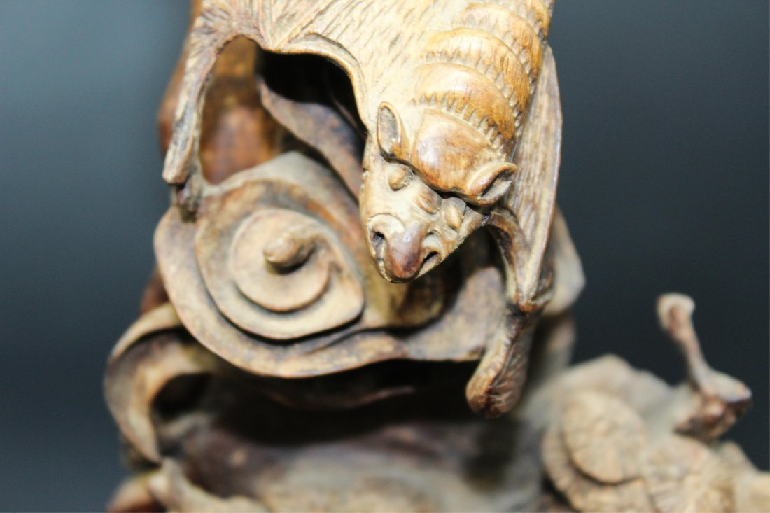 CHINESE HUALI WOOD CARVED SCHOLARS - 7