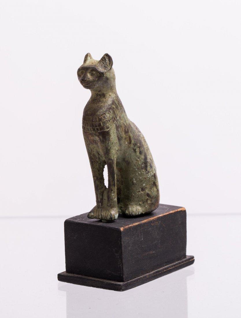 ANCIENT EGYPTIAN BRONZE CAT - 2