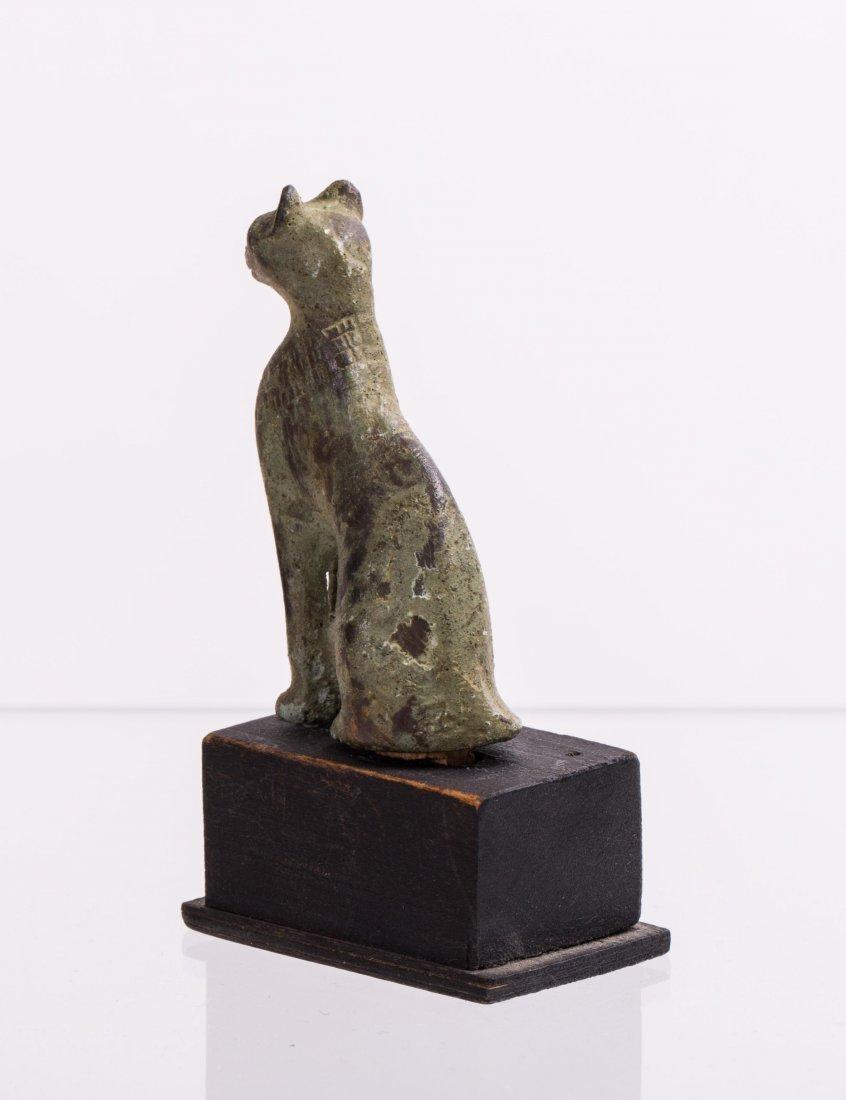 ANCIENT EGYPTIAN BRONZE CAT - 3