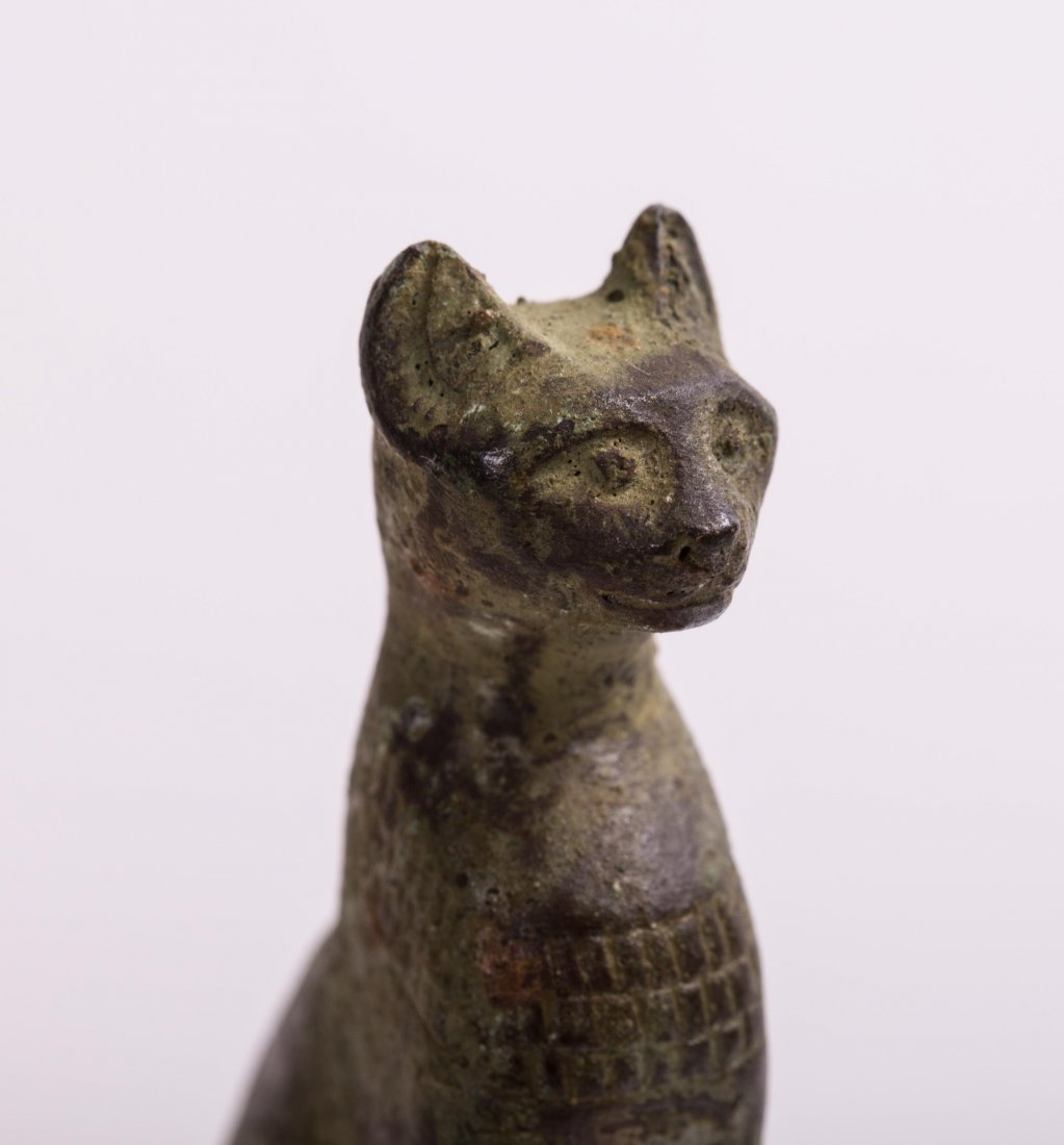 ANCIENT EGYPTIAN BRONZE CAT - 5