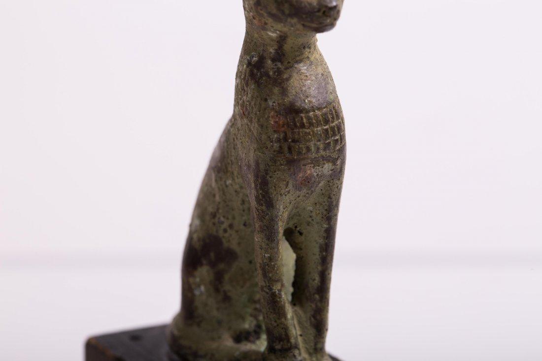 ANCIENT EGYPTIAN BRONZE CAT - 6
