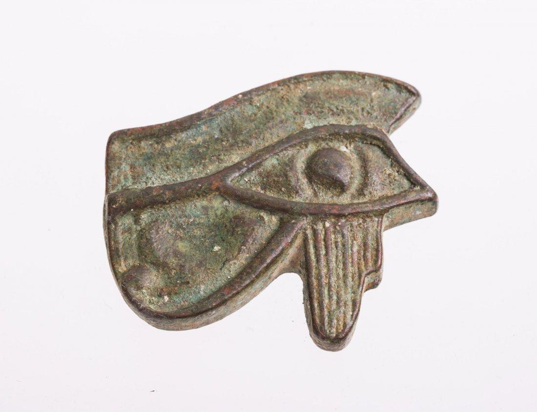 ANCIENT EGYPTIAN BRONZE EYE OF HORUS