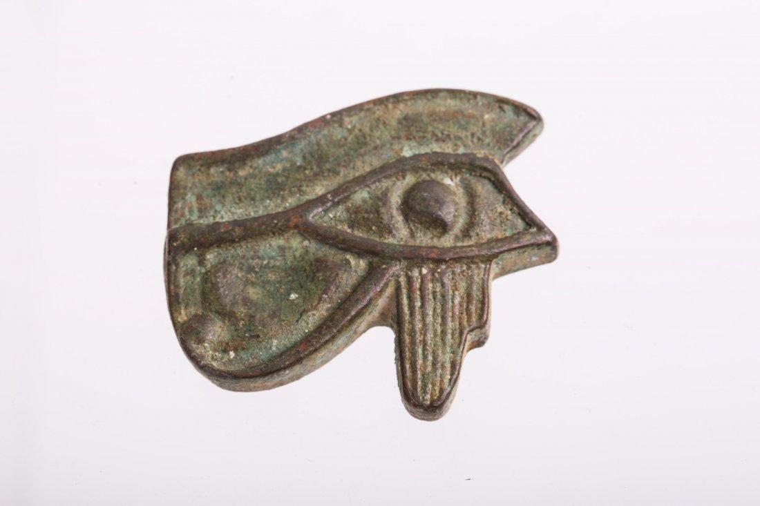 ANCIENT EGYPTIAN BRONZE EYE OF HORUS - 3