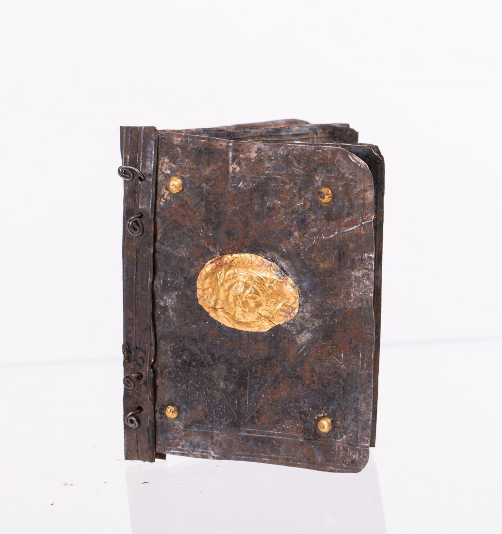 MEDIEVAL SILVER WITH GOLD LEAF BOOK