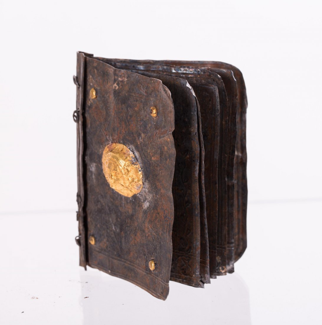 MEDIEVAL SILVER WITH GOLD LEAF BOOK - 2
