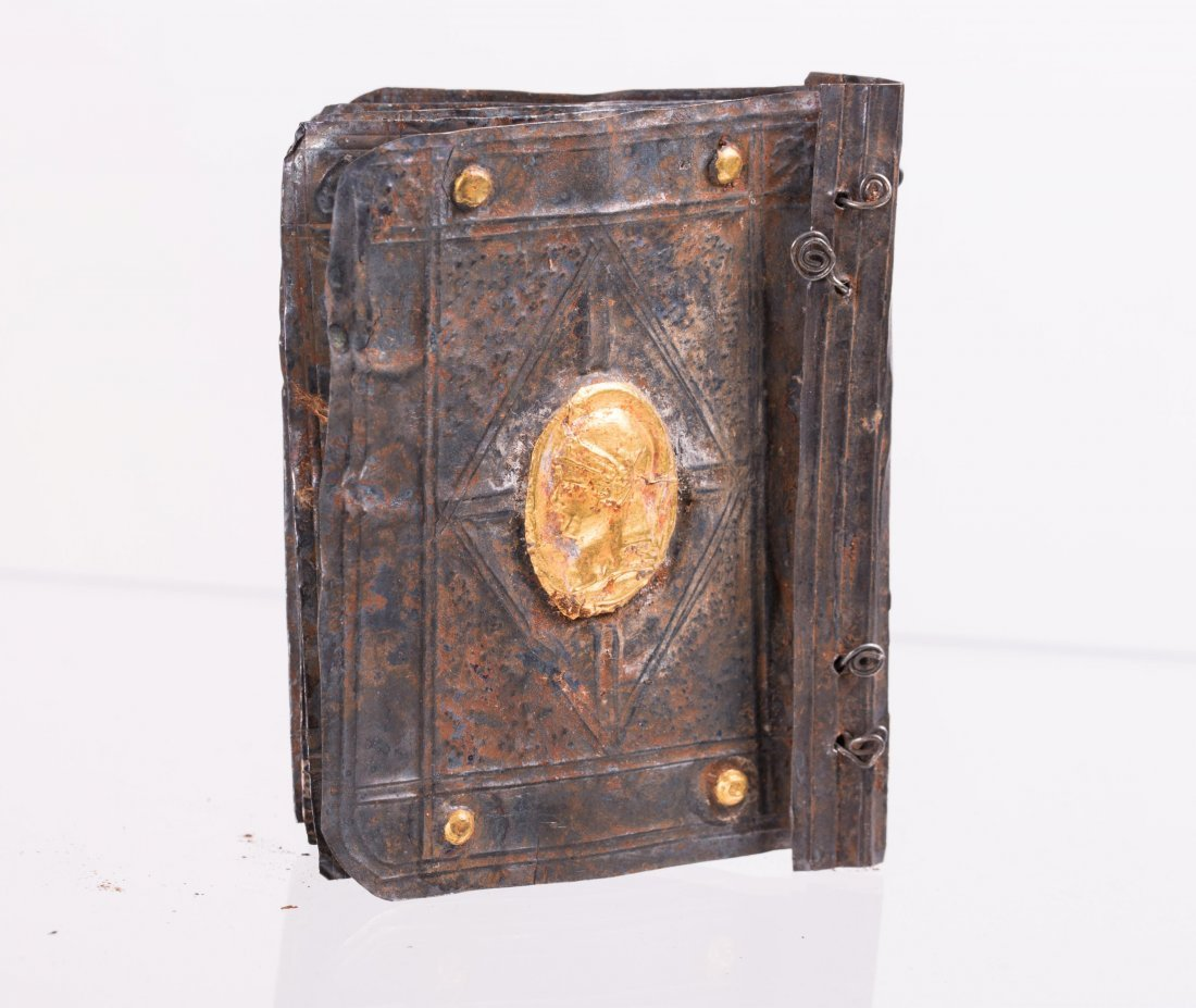 MEDIEVAL SILVER WITH GOLD LEAF BOOK - 9