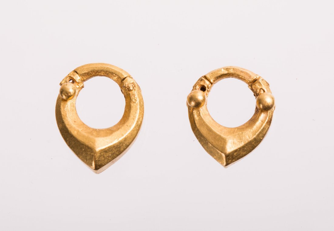 PAIR OF ANCIENT ROMAN GOLD EARRING - 2