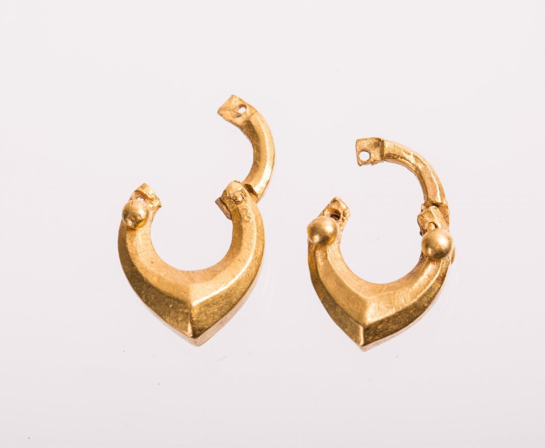 PAIR OF ANCIENT ROMAN GOLD EARRING - 3