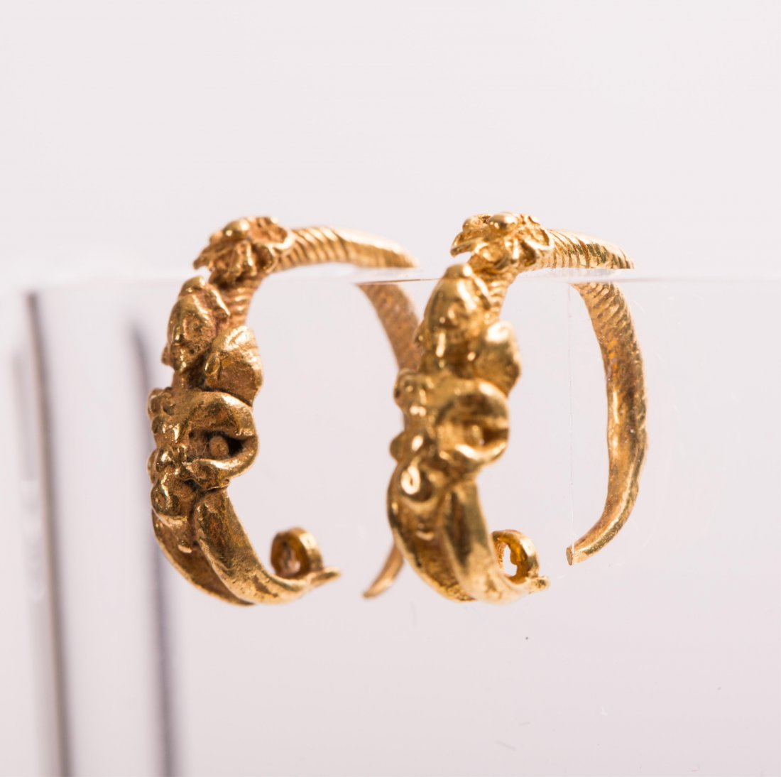 PAIR OF ANCIENT ROMAN GOLD EARRING WITH ANGEL  - 3