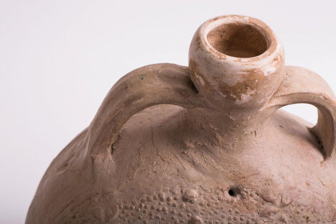 ANCIENT BYZANTINE CLAY FLASK - 5
