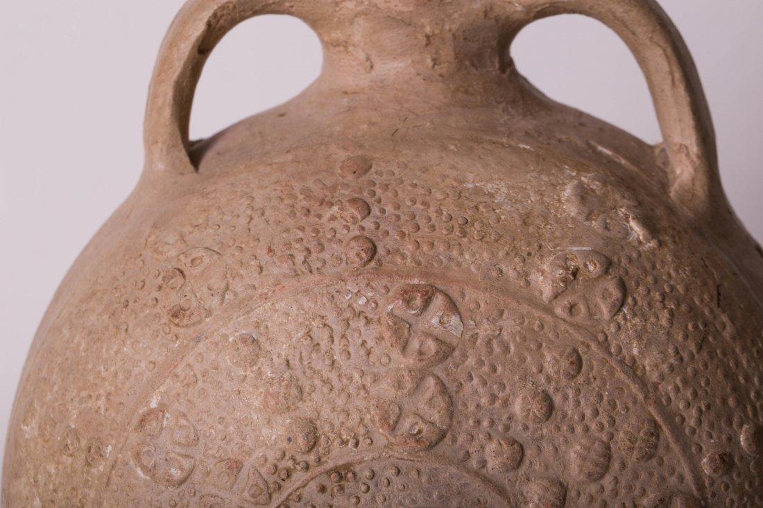 ANCIENT BYZANTINE CLAY FLASK - 8