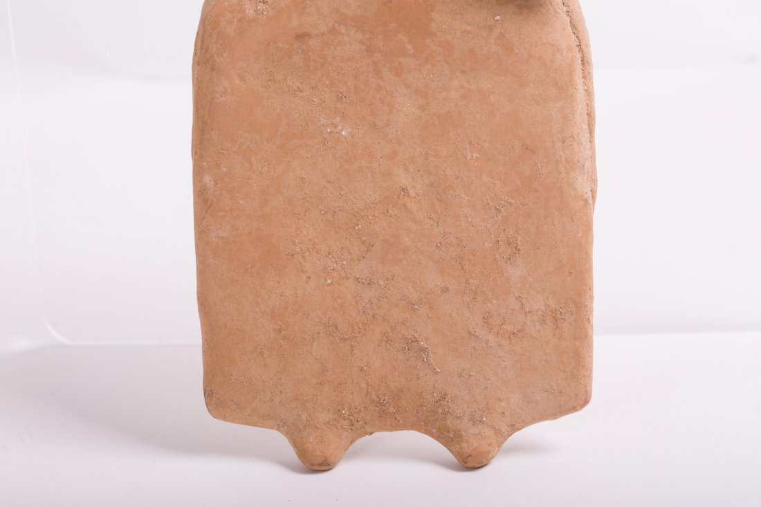 LARGE ANCIENT GREEK TERRACOTTA FEMALE STATUE - 4