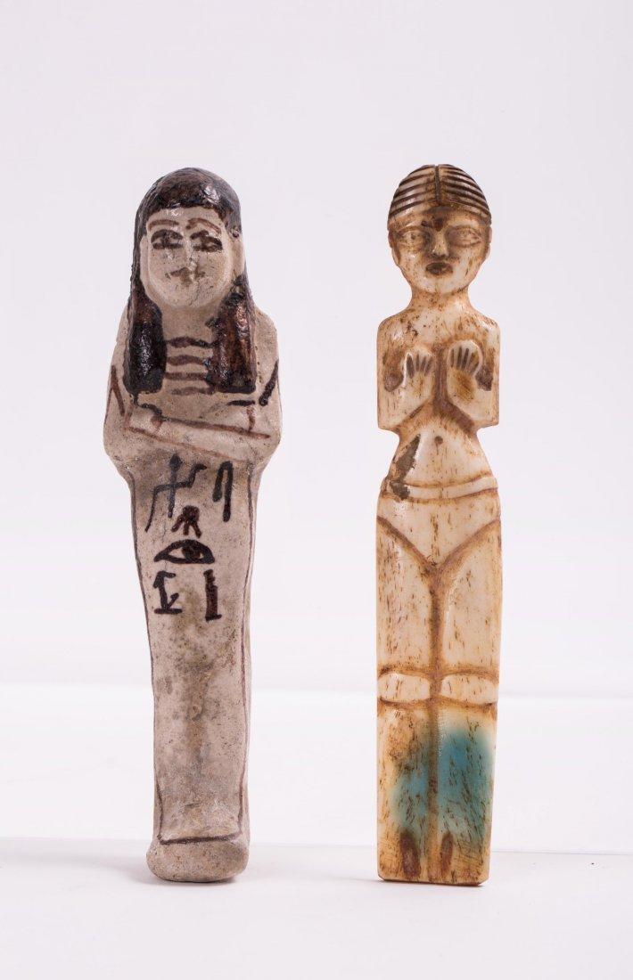 AN EGYPTIAN EBSHATI BONE FEMALE IDOL