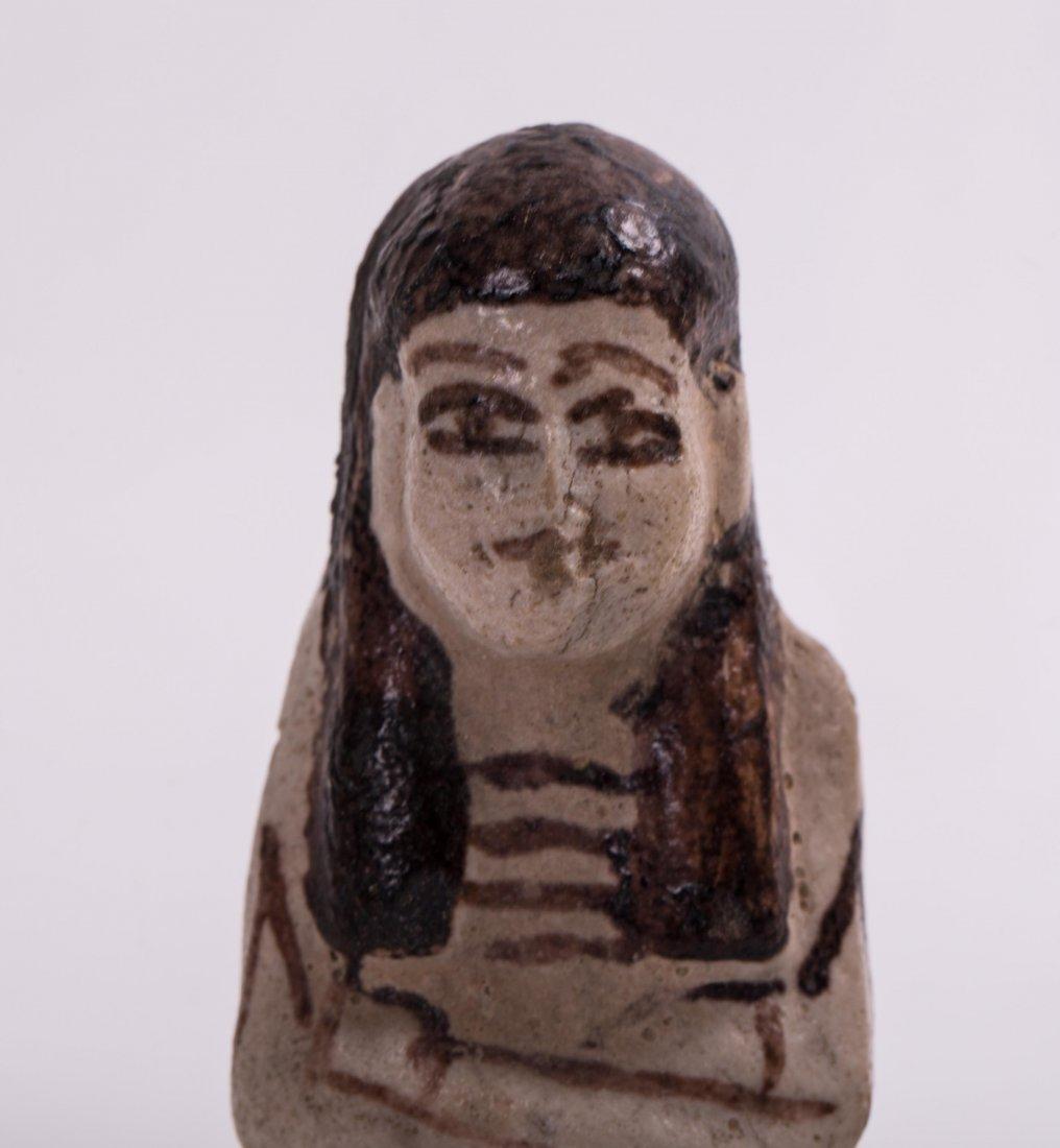 AN EGYPTIAN EBSHATI BONE FEMALE IDOL - 2