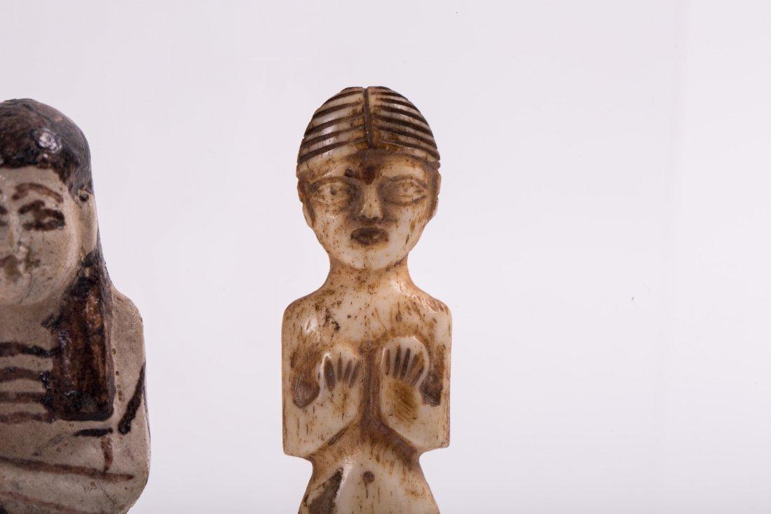 AN EGYPTIAN EBSHATI BONE FEMALE IDOL - 4