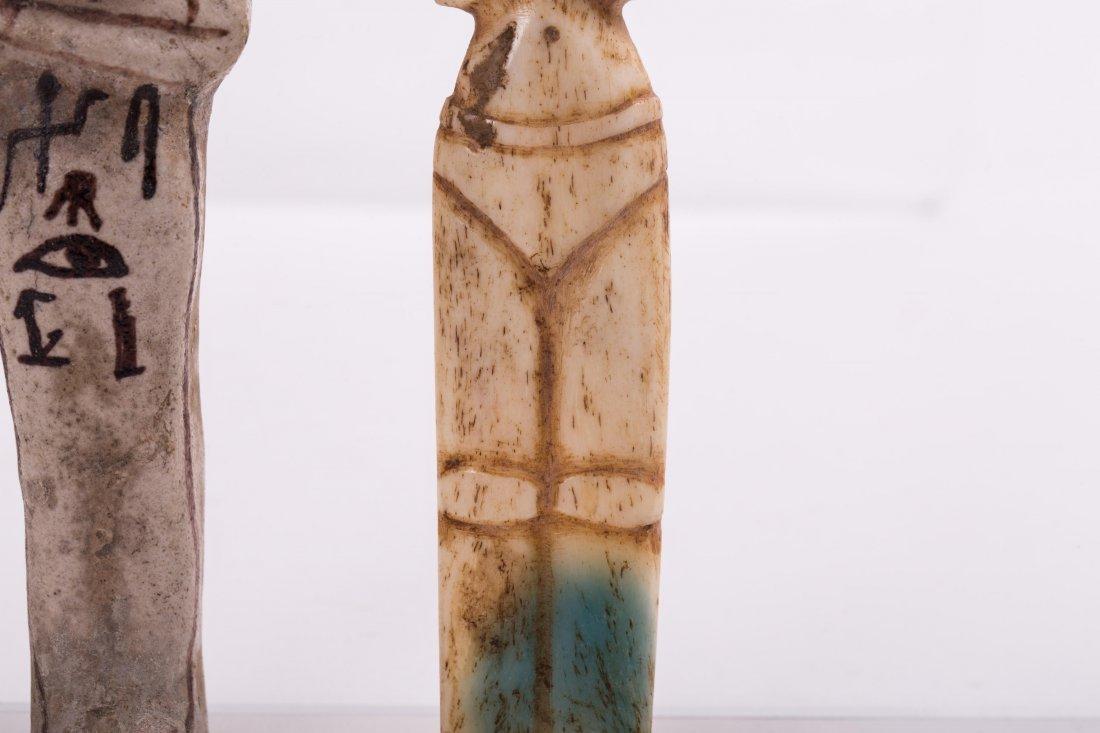 AN EGYPTIAN EBSHATI BONE FEMALE IDOL - 5