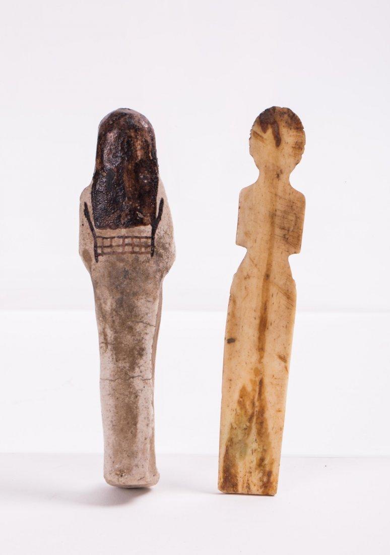 AN EGYPTIAN EBSHATI BONE FEMALE IDOL - 6