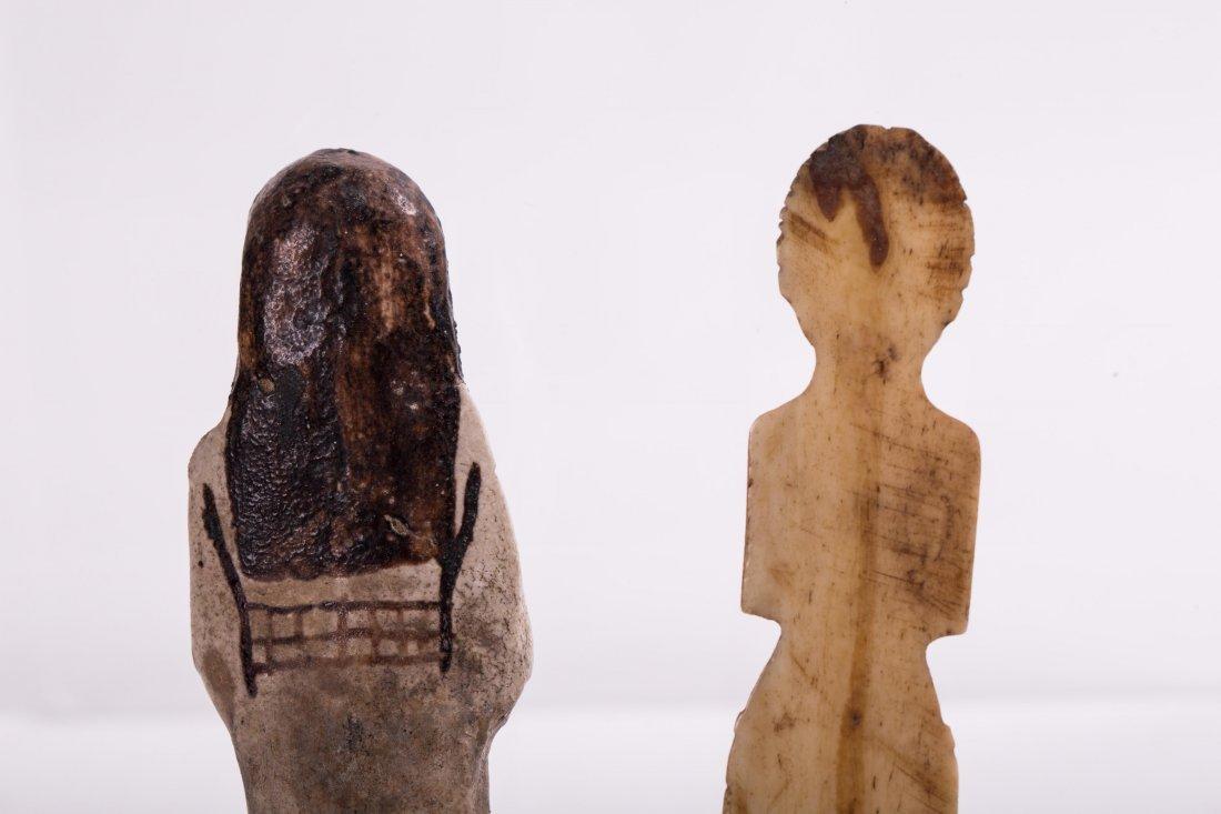 AN EGYPTIAN EBSHATI BONE FEMALE IDOL - 7