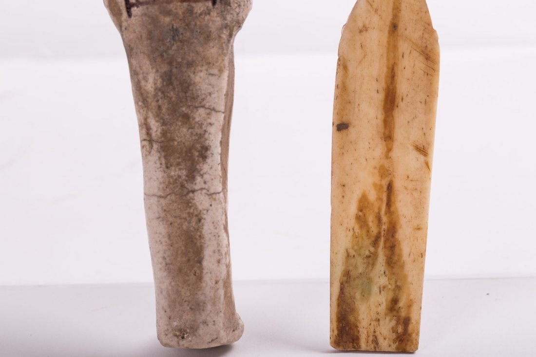 AN EGYPTIAN EBSHATI BONE FEMALE IDOL - 8