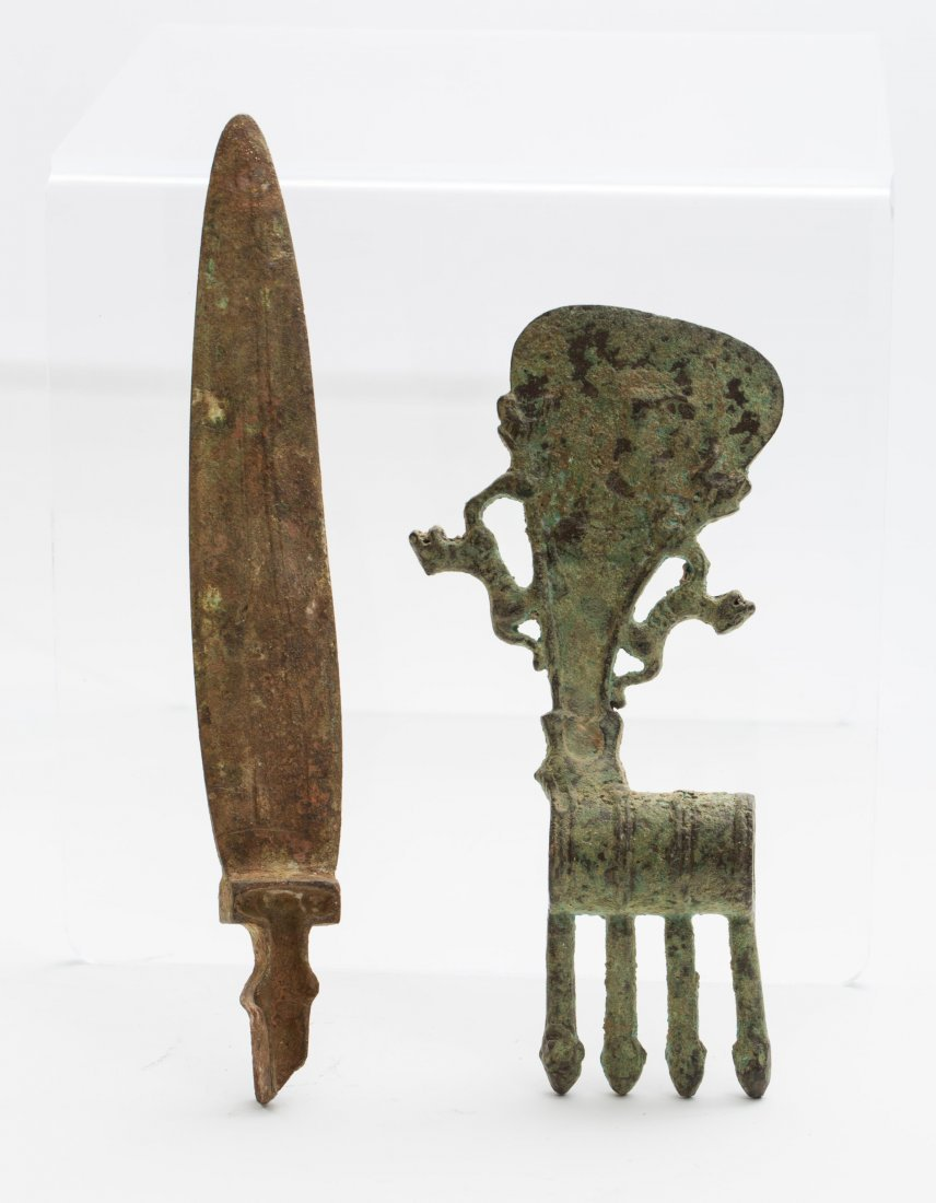 LURISTAN BRONZE AXE AND KNIFE - 8