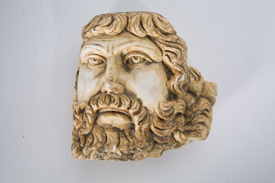 ROMAN STYLE STONE HEAD