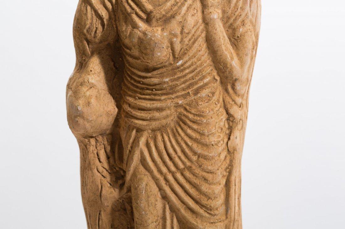 ANCIENT ROMAN CLAY FEMALE STATUE - 3