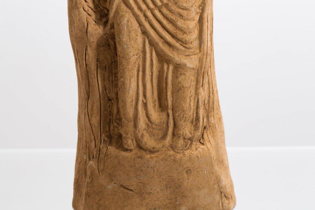 ANCIENT ROMAN CLAY FEMALE STATUE - 4