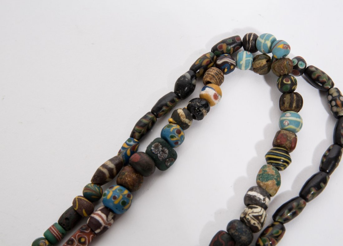 ANCIENT ROMAN ISLAMIC MOSAIC BEADS NECKLACE - 4