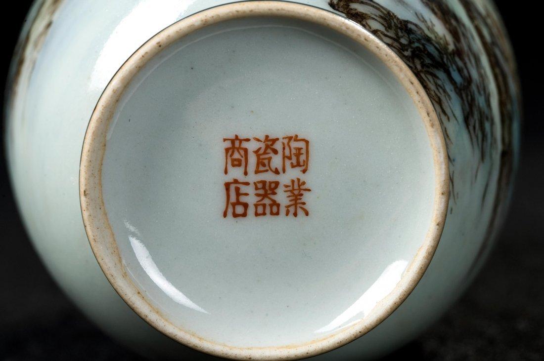 CHINESE FAMILLE ROSE FLOWER VASE - 5